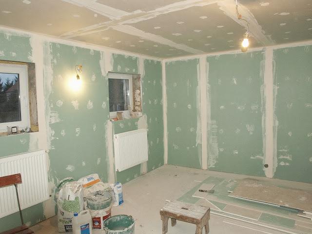 remont starego domu regipsy układanie regipsów ściany