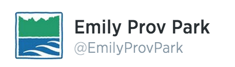 Emily Provincial Park Ontario logo and Twitter @EmilyProvPArk