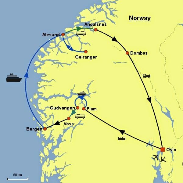 Sallih In Scandinavian Peninsular Travel Geiranger To Alesund - Norway map alesund