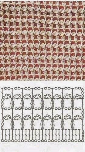 Crochet Jersey Stitch : Puntadas crochet / 3 Puntos crochet / 3 Crochet Pattern Todo