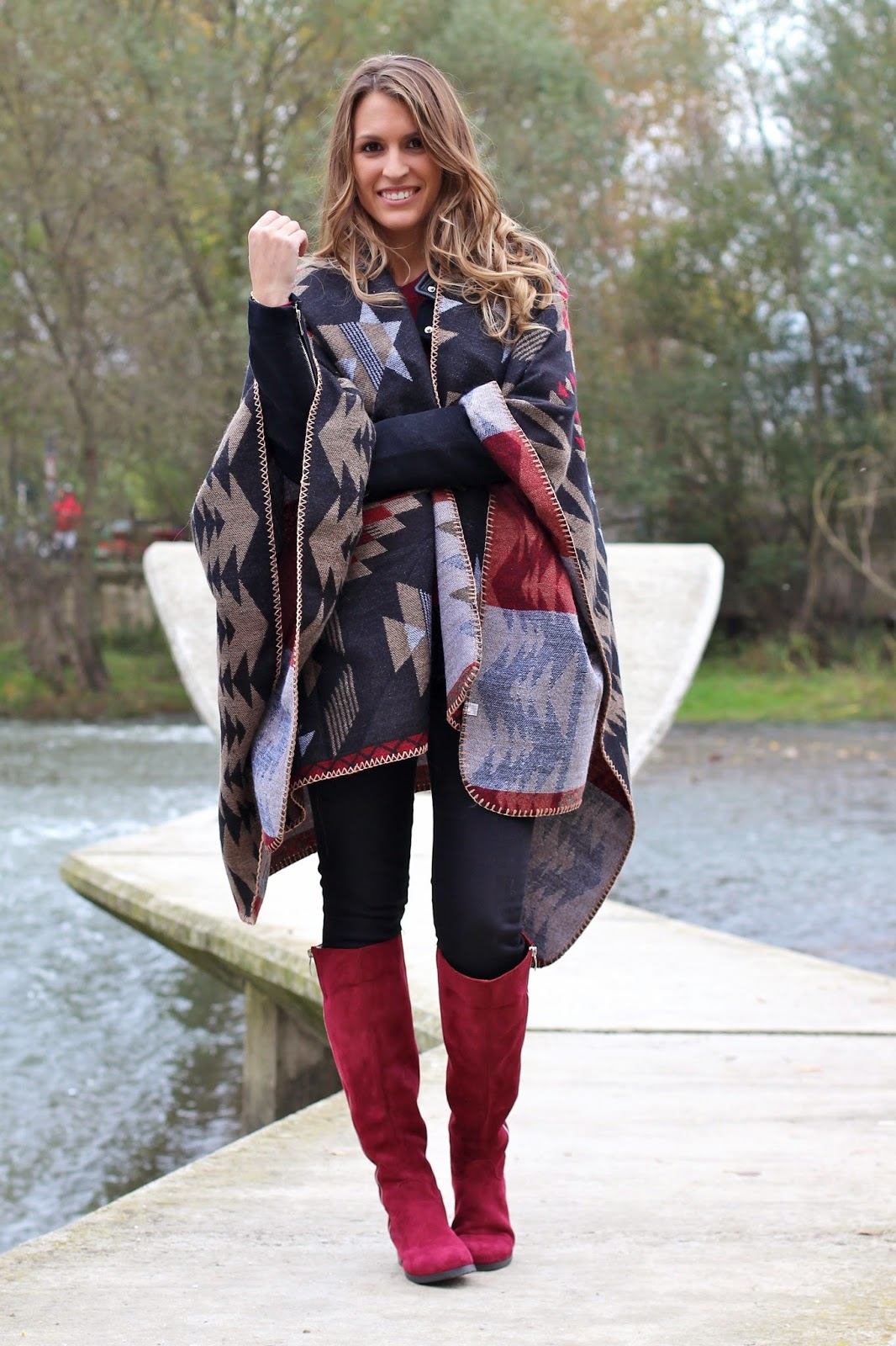 ethnic poncho