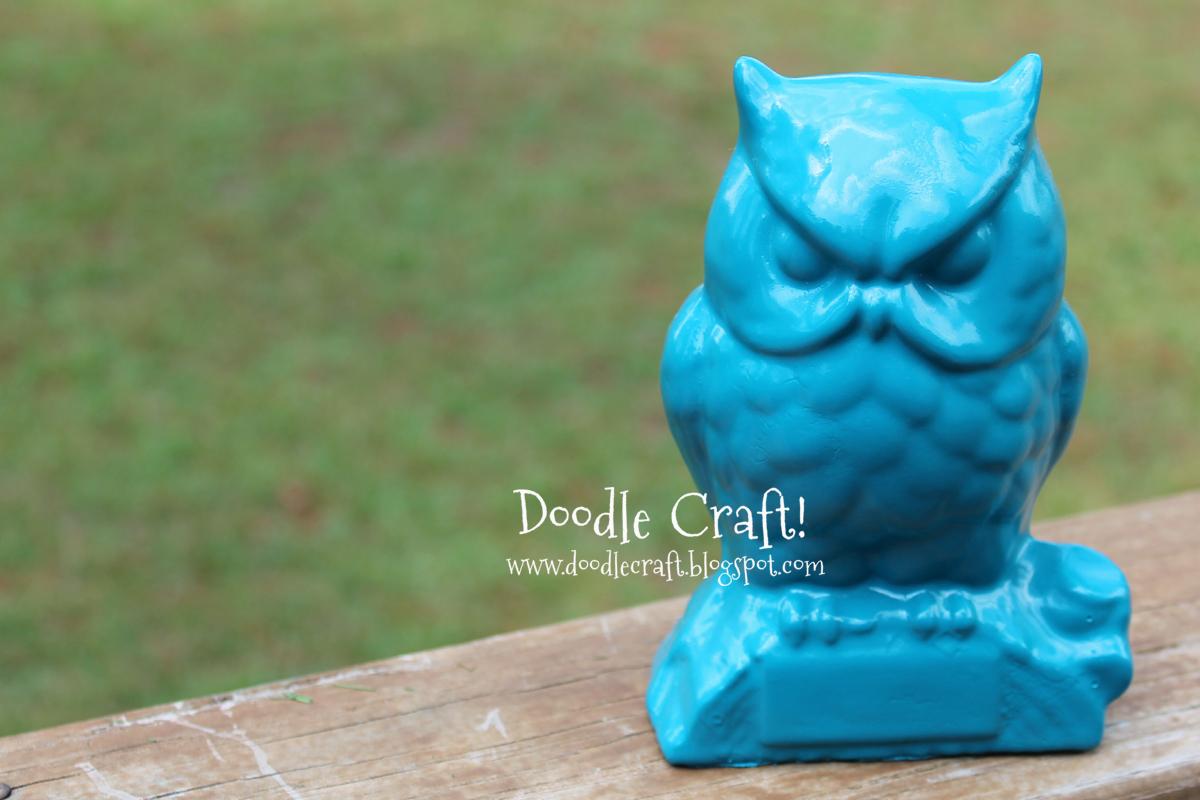 Doodlecraft Owl Ways Teal