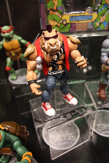 Playmates Teenage Mutant Ninja Turtles TMNT 2013 Toy Fair Display -  Bebop and Rocksteady figures