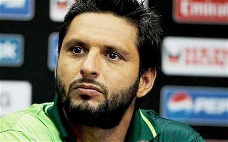 Shahid Afridi World Cup Jersey. Pakistan captain Shahid Afridi