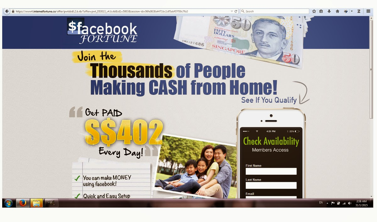 scams go away get a part time job facebook 101 facebookjobonline work from home program that did not describe what is the job assignment and how it works this page only wanted me to key in my