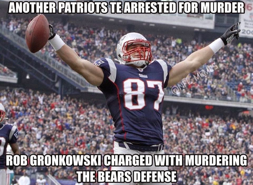 another patriots te arrested for murder rob gronkowski charged with murdering the bears defense