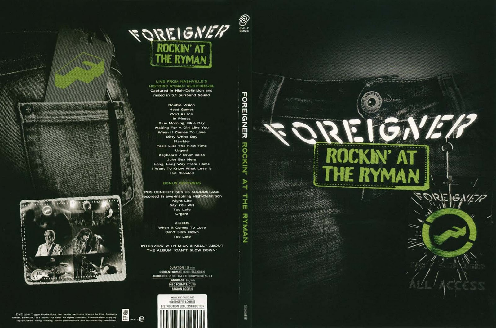 Foreigner   Rockinu0027 At The Ryman (2011)
