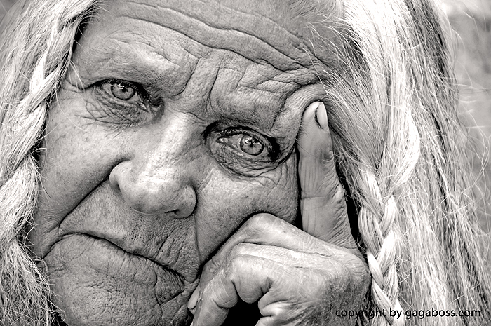 Image of: Art Keywords Portrait Senior Woman Hdr Black And White Photos Serious Experience Wisdom Squaw Old People Photography Images Gagaboss Studio Gagaboss Studio Portrait Of Senior Woman In Black And White