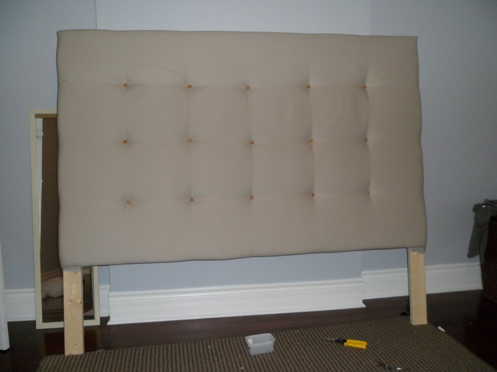 High park haven diy head board for Makeshift headboard