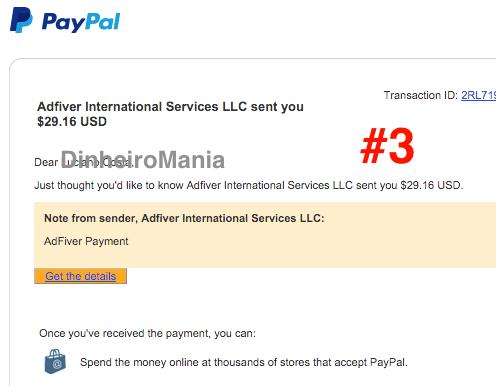 Pagamento 3 Paypal Adfiver