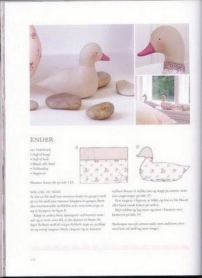 patinho em tecido com molde - patchwork