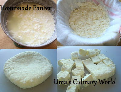 Paneer or Indian cottage Cheese