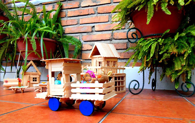 Manualidades, Camión hecho de Palitos de Helado,  Truck made with Popsicle sticks