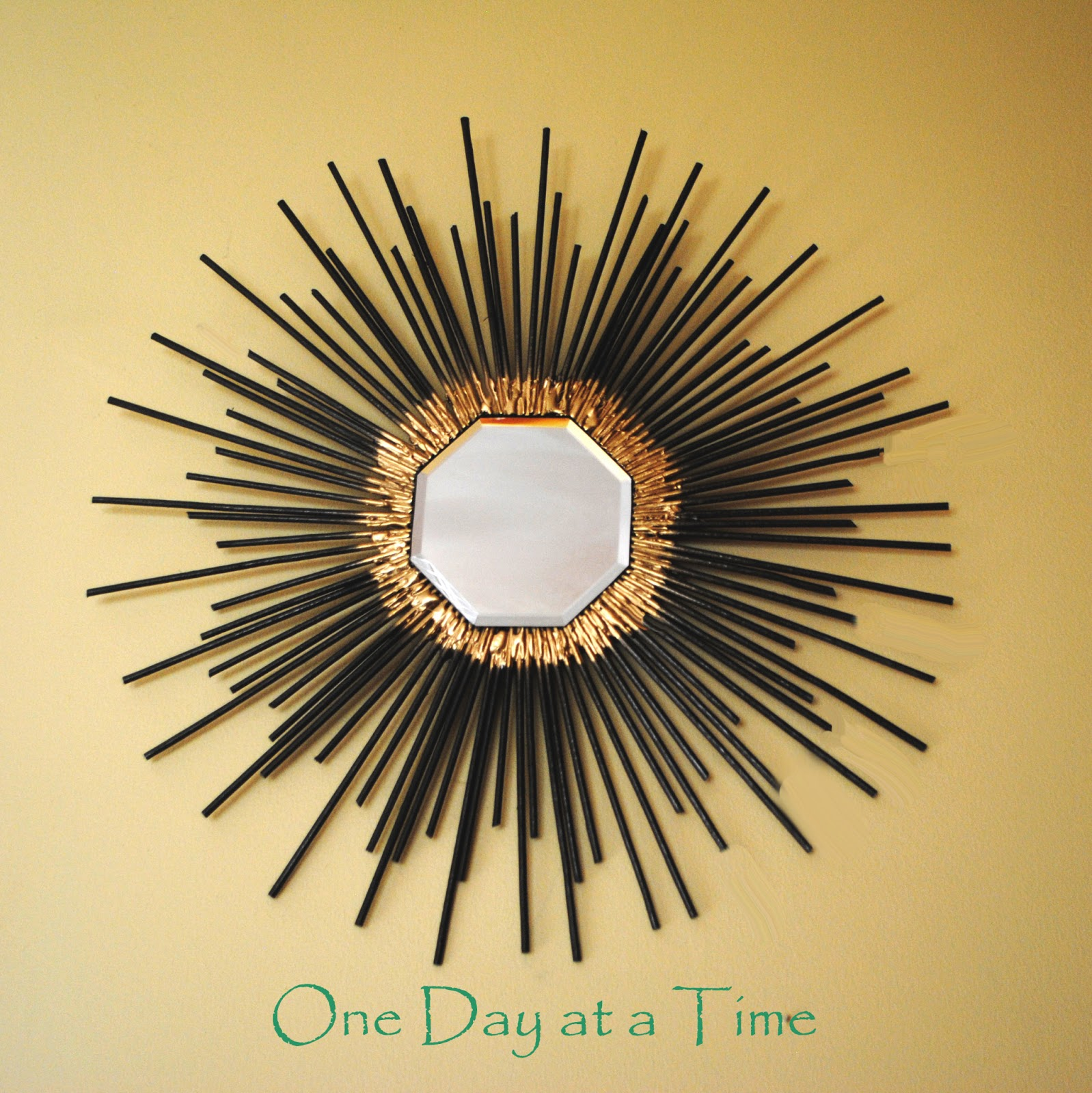 One Day at a Time: 50\'s Inspired Starburst Wall Art