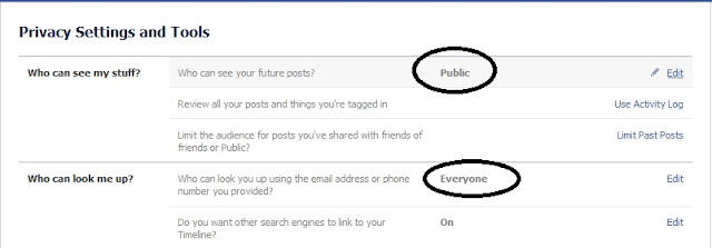 facebook public privacy