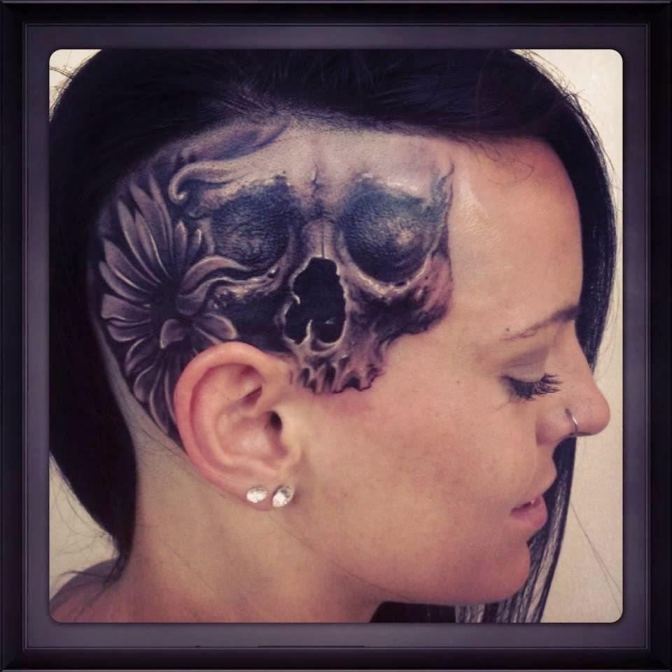 Tatuaje en el cuero cabelludo