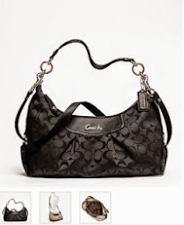 STOCK CLEARANCE SALE # COACH ASHLEY SIGNATURE CONVERTIBLE HOBO F19766