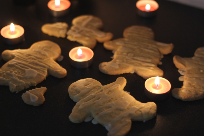 Halloween Mummy Gingerbread men Pinterest Recipe Orange Butter Biscuits Cookies
