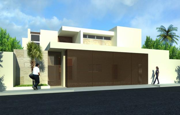 Fachadas minimalistas hermosa fachada minimalista con - Jardines de casas pequenas ...