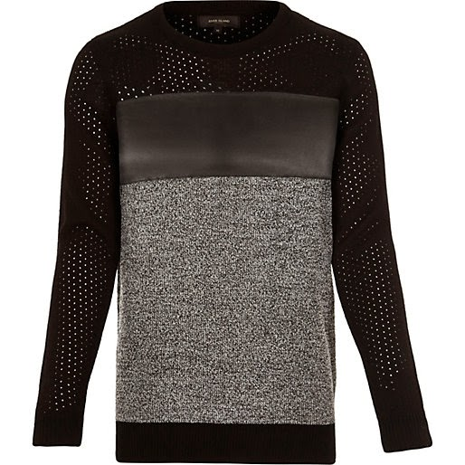 http://www.riverisland.com/men/jumpers--cardigans/jumpers/Black-panel-long-sleeve-jumper-284425