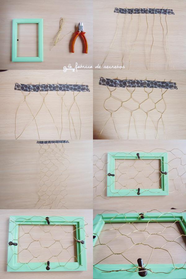 La fábrica de secretos: DIY: Cuelgatodo de alambre
