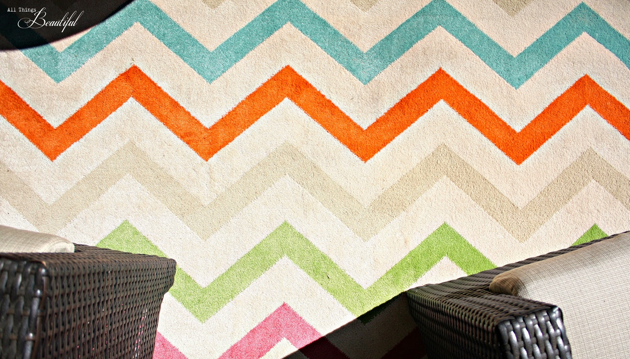 All Things Beautiful Spring Patio Update Mohawk Rug