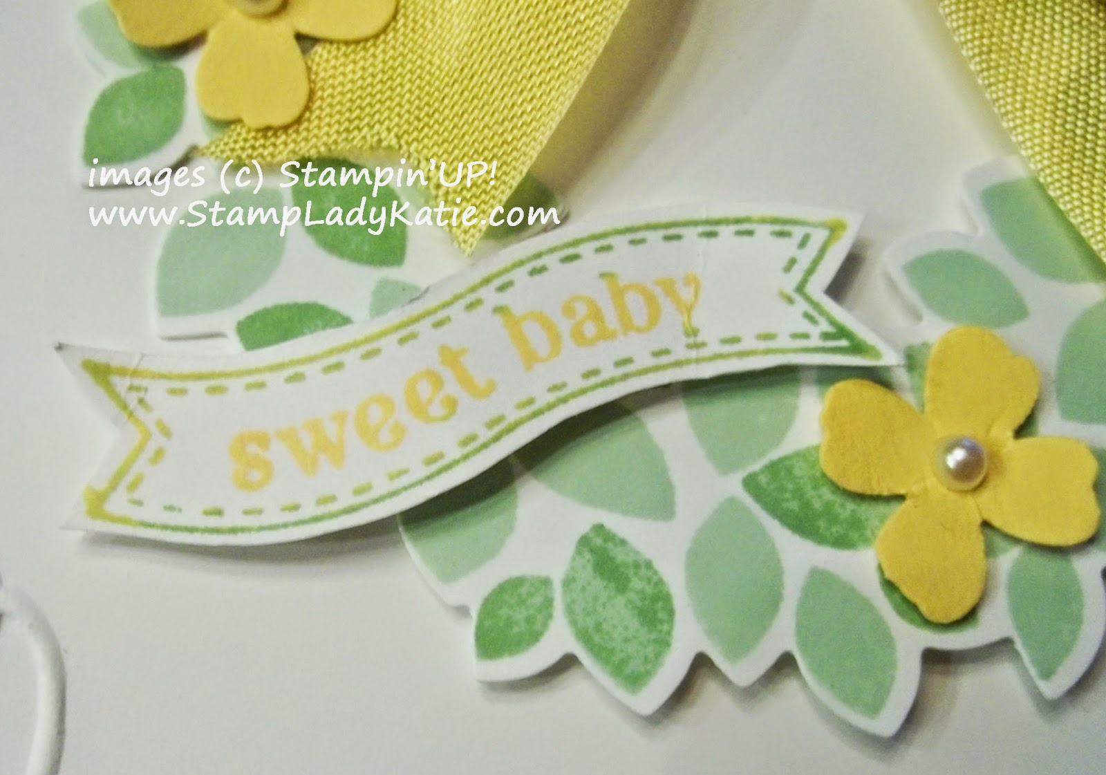 Baby Card made with Stampin'UP!'s Wondrous Wreath Set