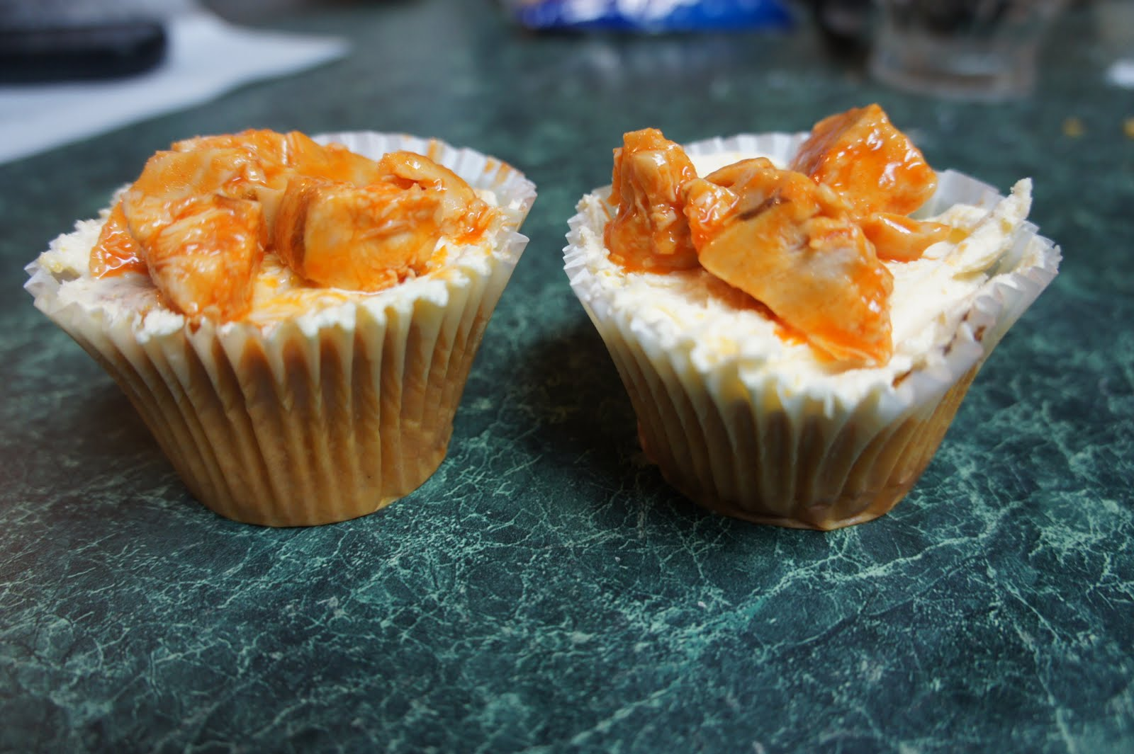 My Crazy Mind: Buffalo Chicken Cupcakes