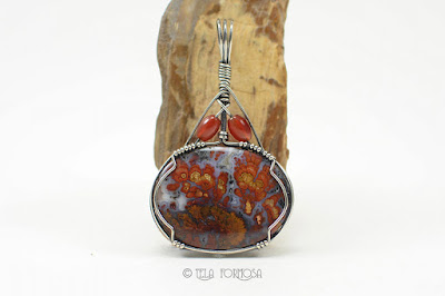 Death Valley Plume Agate Wingate Pass Pendant