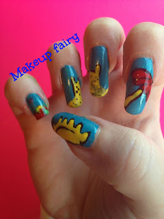 sand castle nail art