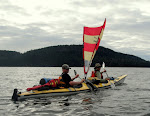 Kayak-Sailing the BC Gulf islands