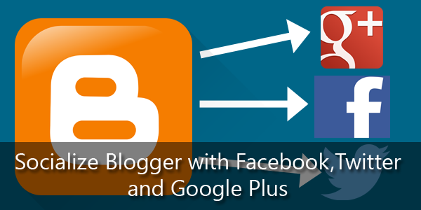 How to set up social sharing buttons for Blogger post on home page? [Facebook Google + Twitter]