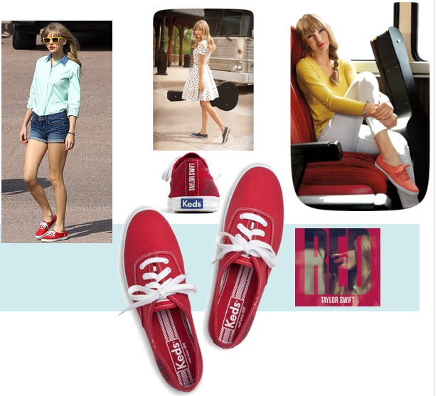 Taylor swift keds zapatillas red