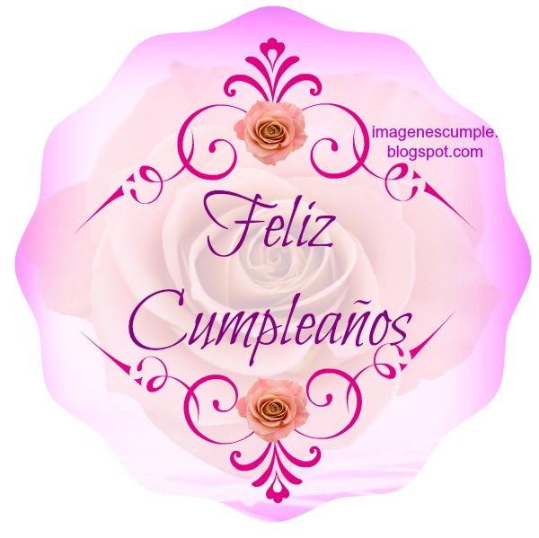 Bonita Tarjeta de cumpleaños feliz, imagen tierna para mensaje de cumpleaños,