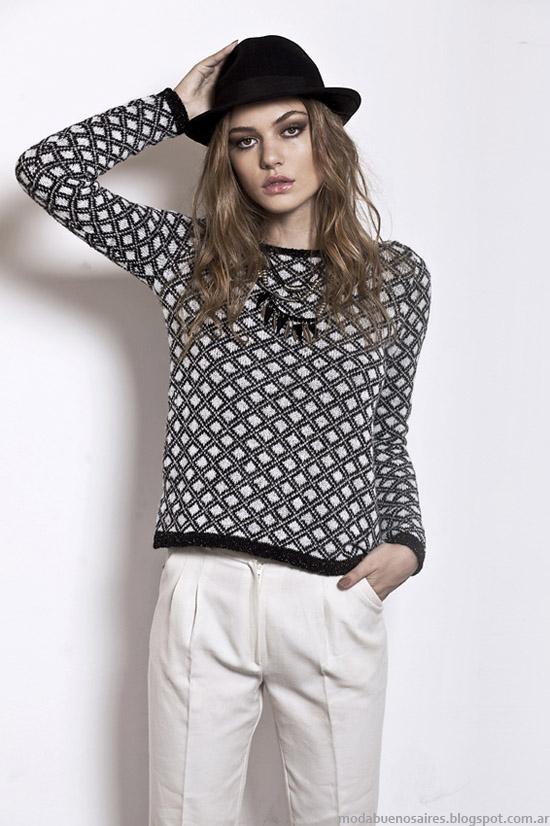 Florencia Llompart colección otoño invierno 2014. Moda sweaters tejidos otoño invierno 2014.