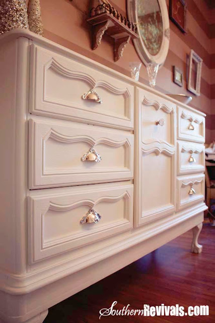 Southern Revivals | 1970s French Provencal Dresser Becomes Modern Buffet