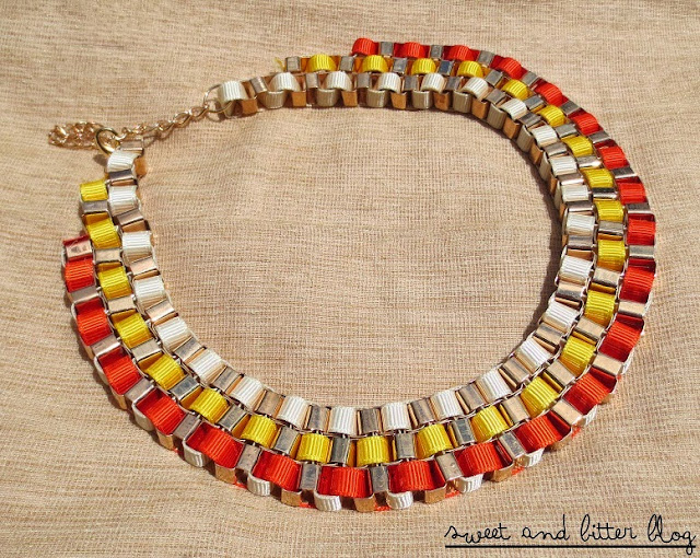 Orange and Yellow Tiered Statement Necklace