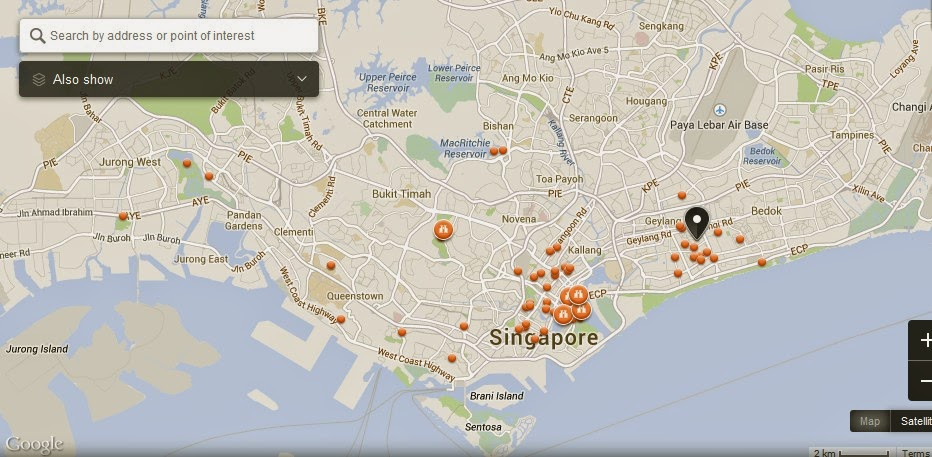 Katong and Joo Chiat Singapore Map,Map of Katong and Joo Chiat Singapore,Tourist Attractions in Singapore,Katong and Joo Chiat Singapore accommodation destinations hotels map reviews photos pictures
