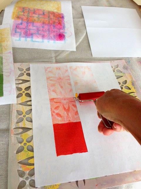Gelli Prints by Daniela Mellen