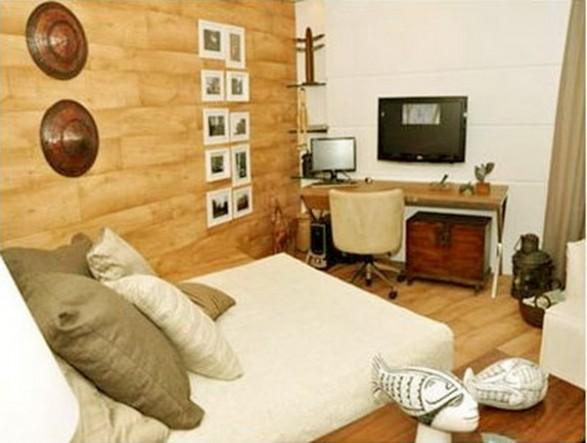 Muebles de madera de cedro para dormitorio en colores for Pintura de muebles de madera