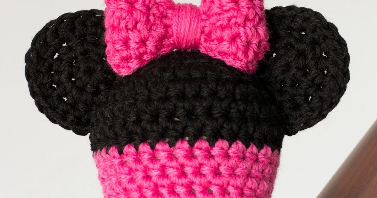 Único Minnie Mouse Beanie Crochet Pattern Elaboración - Manta de ...