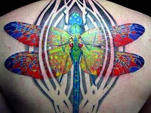 Fotos tatuagem libelula costas