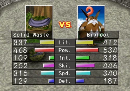 Monster Rancher 2 battle screenshot