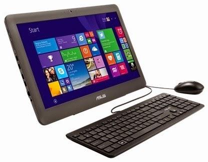 Моноблок ASUS ET2040INK на столе с клавиатурой