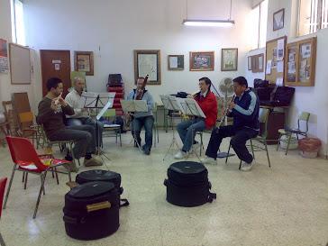"""Ensayo del Quinteto de Viento """"Divertimento""""."""