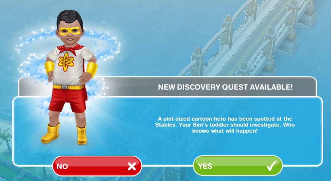 Sims freeplay super toddler secret misson quest baby for Baby bathroom needs sims freeplay
