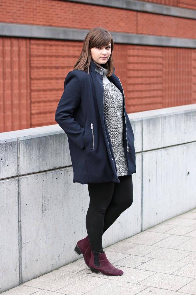 blue fall coat