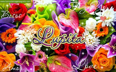 Banco de Imágenes Gratis 50 postales de amor con nombres y flores.