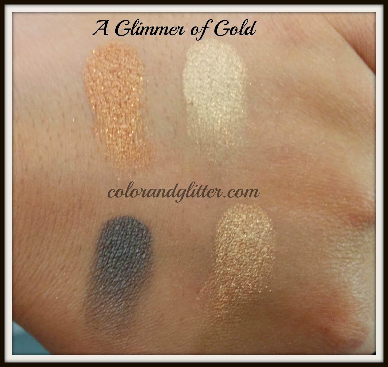 MAC mineralize eyeshadow x4 a glimmer of gold