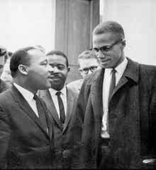 Martin Luther King y Malcolm X el 26 de marzo de 1964